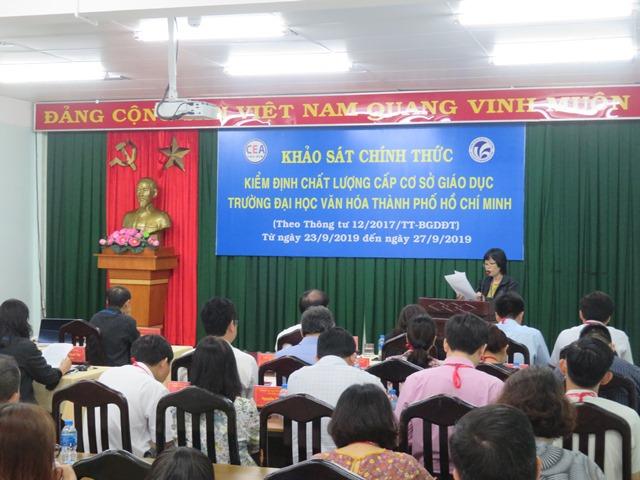 Khai mạc khảo sát chính thức kiểm định chất lượng cấp cơ sở giáo dục Trường Đại học Văn hóa TP. Hồ Chí Minh