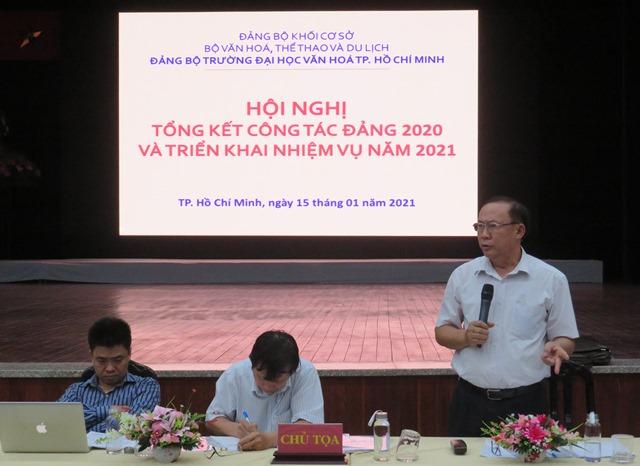 Hội nghị tổng kết công tác xây dựng Đảng năm 2020 và triển khai nhiệm vụ công tác năm 2021