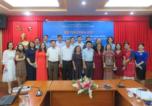 Đào tạo nguồn nhân lực đáp ứng yêu cầu bảo vệ môi trường và ứng phó biến đổi khí hậu trong lĩnh vực văn hóa, thể thao và du lịch khu vực Đồng bằng sông Cửu Long.
