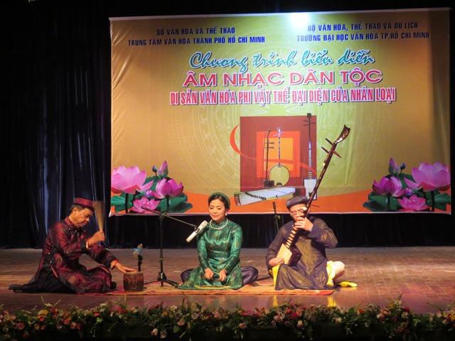 Chương trình biểu diễn âm nhạc dân tộc – Di sản văn hóa phi vật thể đại diện của nhân loại.