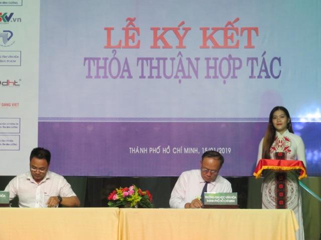 Lễ Ký kết Hợp tác giữa Trường Đại học Văn hóa TP. Hồ Chí Minh và 15 đơn vị hợp tác với Khoa Quản lý Văn hóa - Nghệ thuật