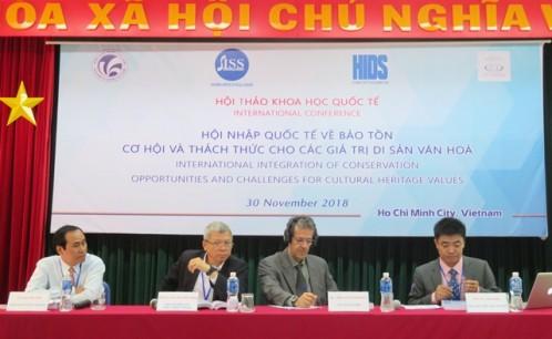 """Hội thảo quốc tế """"Hội nhập quốc tế về bảo tồn - Cơ hội và thách thức cho các giá trị di sản văn hóa"""""""