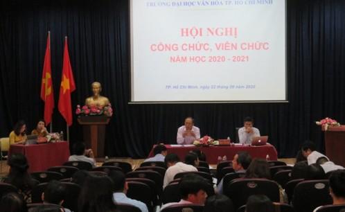 Hội nghị Công chức, viên chức Trường Đại học Văn hóa TP. Hồ Chí Minh năm học 2020-2021.