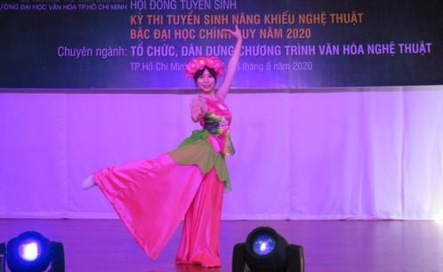 Trường Đại học Văn hóa TP. Hồ Chí Minh tổ chức thi tuyển sinh năng khiếu nghệ thuật năm 2020.