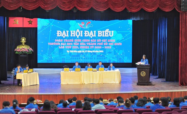 Tổ chức thành công Đại hội Đại biểu Đoàn TNCS Hồ Chí Minh - Trường Đại học Văn hóa TP.HCM nhiệm kỳ 2020 – 2022: mở ra một nhiệm kỳ mới hứa hẹn nhiều đột phá